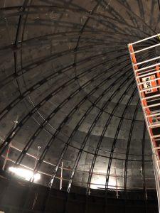 Galileum Solingen - Installation der Planetariumskuppel