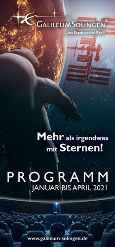 Programmheft Galileum Solingen Januar bis April 2021