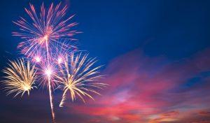 Feuerwerk anlässlich eines Jubiläums