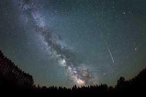 Sternschnuppen in der Milchstraße