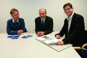 Gespräch im Rathaus: vlnr: Dr. Frank Lungenstraß, Stadtirektor Hartmut Hoferichter und Dr. Sebastian Fleischmann